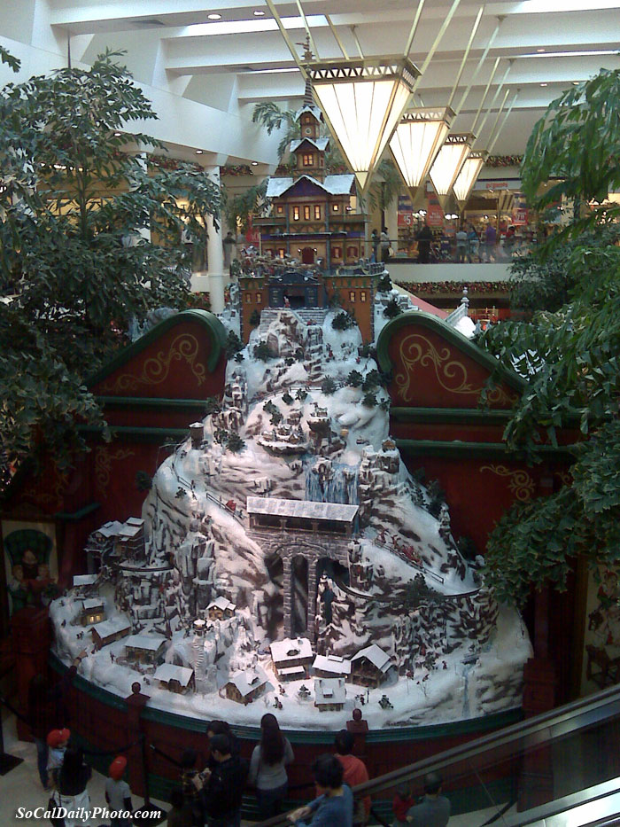 Christmas at the South Coast Plaza mall
