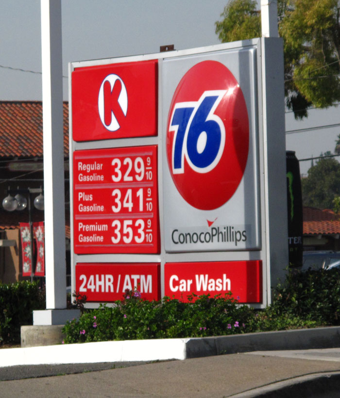 current gas prices compared to 1987
